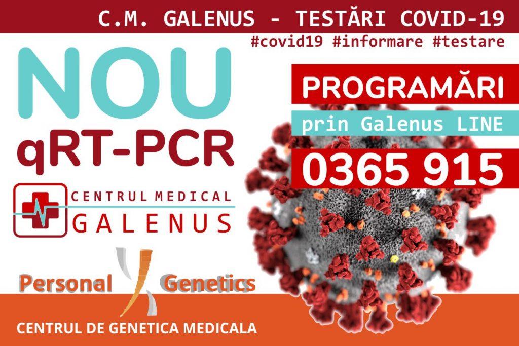 Testări moleculare COVID-19, prin qRT-PCR