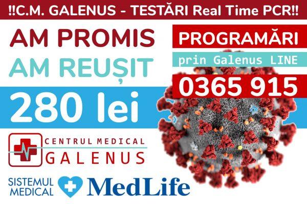 Testarea COVID-19 la Tg. Mureș, prin Centrul Medical GALENUS